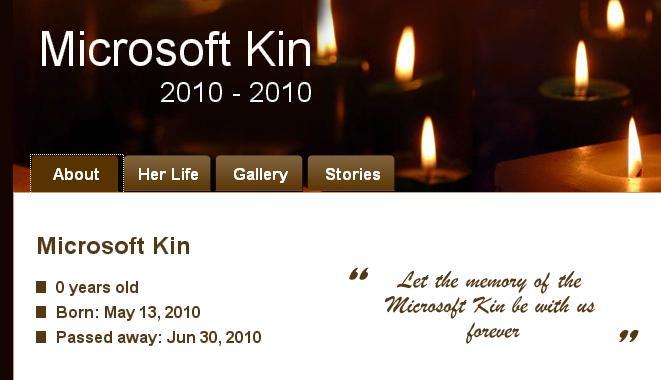 Rozlučka s Microsoft Kin – zapal svíčku a dej sbohem