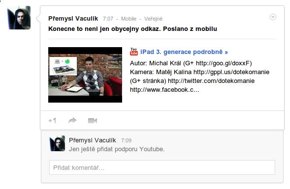 Google+ aktualizován