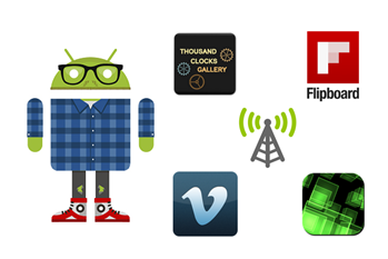 Android Apps 26: Flipboard, Wifileaks, Vimeo a hodiny