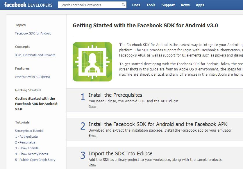 Facebook představil nový Android Developer Central