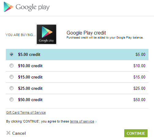 Google Play – předplaťte si kredit, ale ne u nás