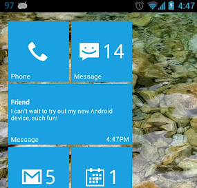 Widget ve stylu Metro z Windows Phone #Android