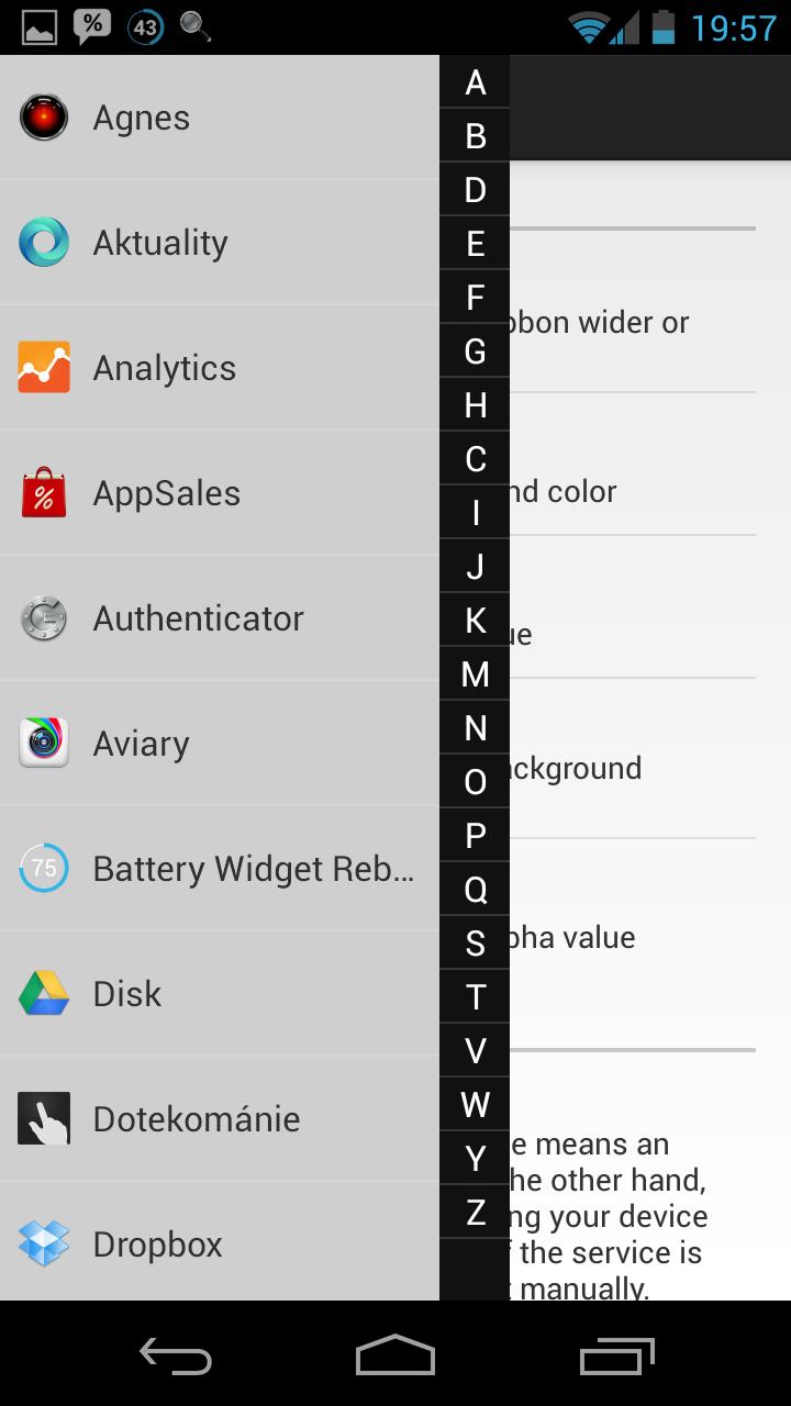 GYF Side Launcher – doplněk ke každému launcheru