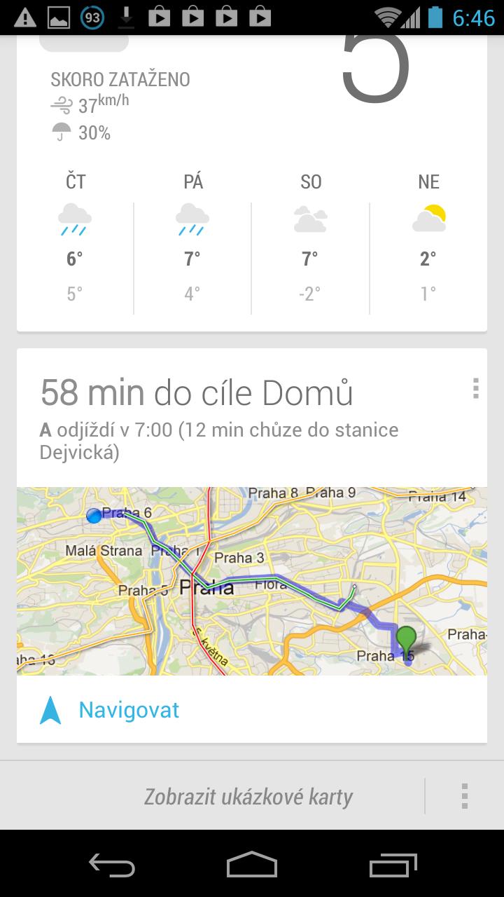 Informace o pražské dopravě přímo v Google Now a v Mapách