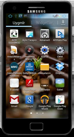 ROOT: Rainbox Jelly Bean 4.1.2 ROM pro Galaxy S II