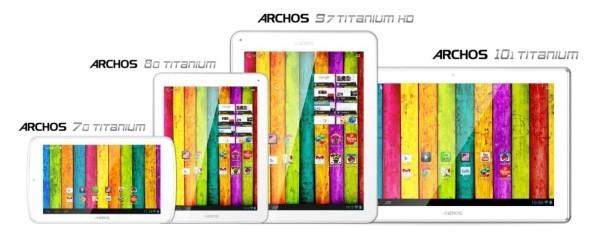 Archos rozšířil řadu tabletů Titanium o další tři modely