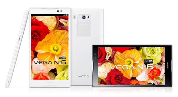 Pantech uvedl špičkový 6palcový smartphone Vega No.6