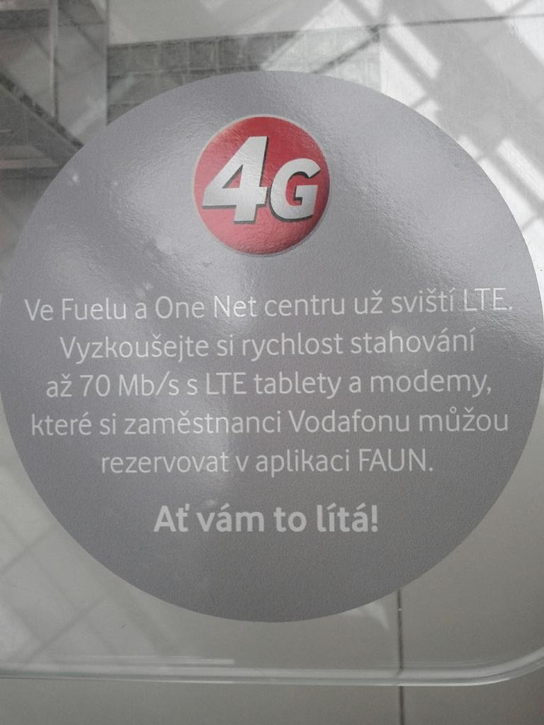 Vodafone spustil LTE v Praze