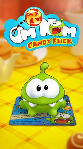AR hra Om Nom: Candy Flick od tvůrců Cut the Rope