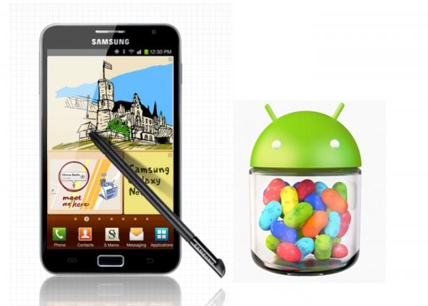 Samsung vypouští Android 4.1.2 Jelly Bean pro Galaxy Note