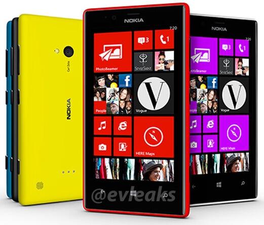 Unikly rendery Nokia Lumia 520 a 720