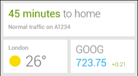 Google Now získá widget
