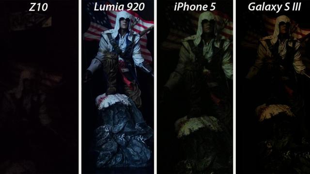 BlackBerry Z10 se nevyrovná Lumii 920, iPhonu 5 a SGS III – foťák je příliš slabý