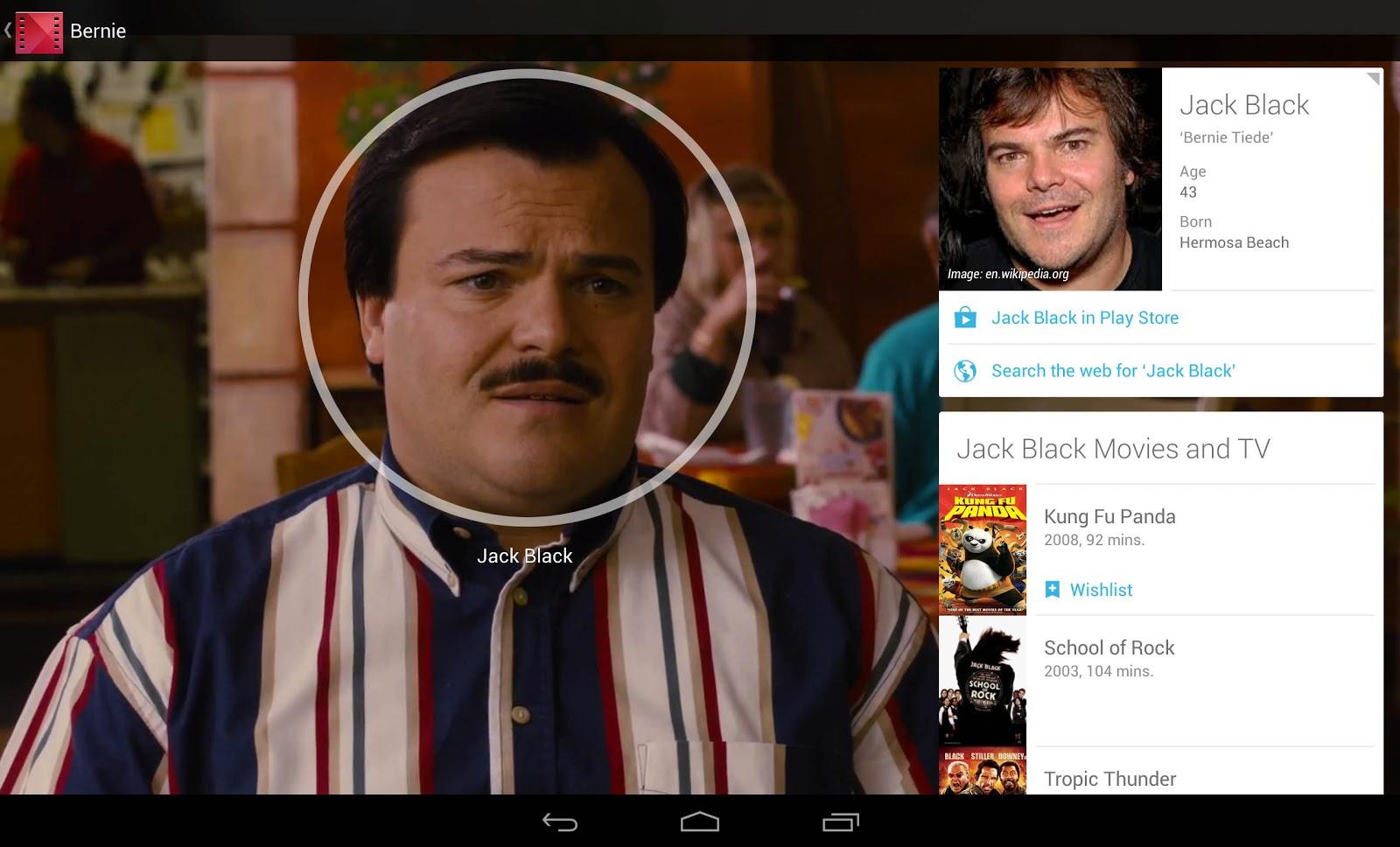 Google rozpozná tvář v přehrávaném filmu na tabletu s Androidem