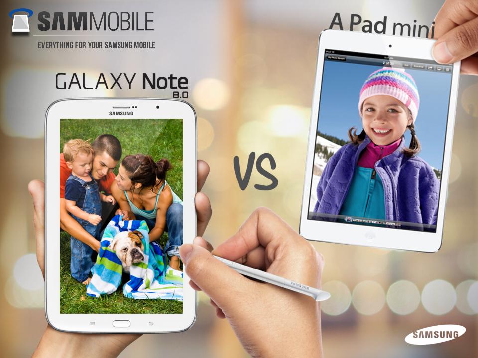 Galaxy Note 8.0 vs. iPad mini – nová kampaň Samsungu