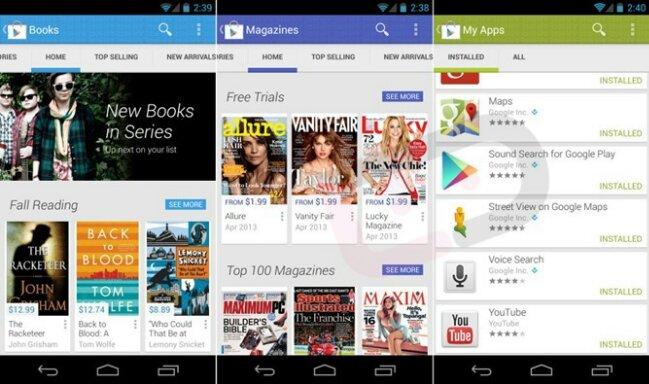 Aplikace Google Play Store získá nový Holo vzhled [video]