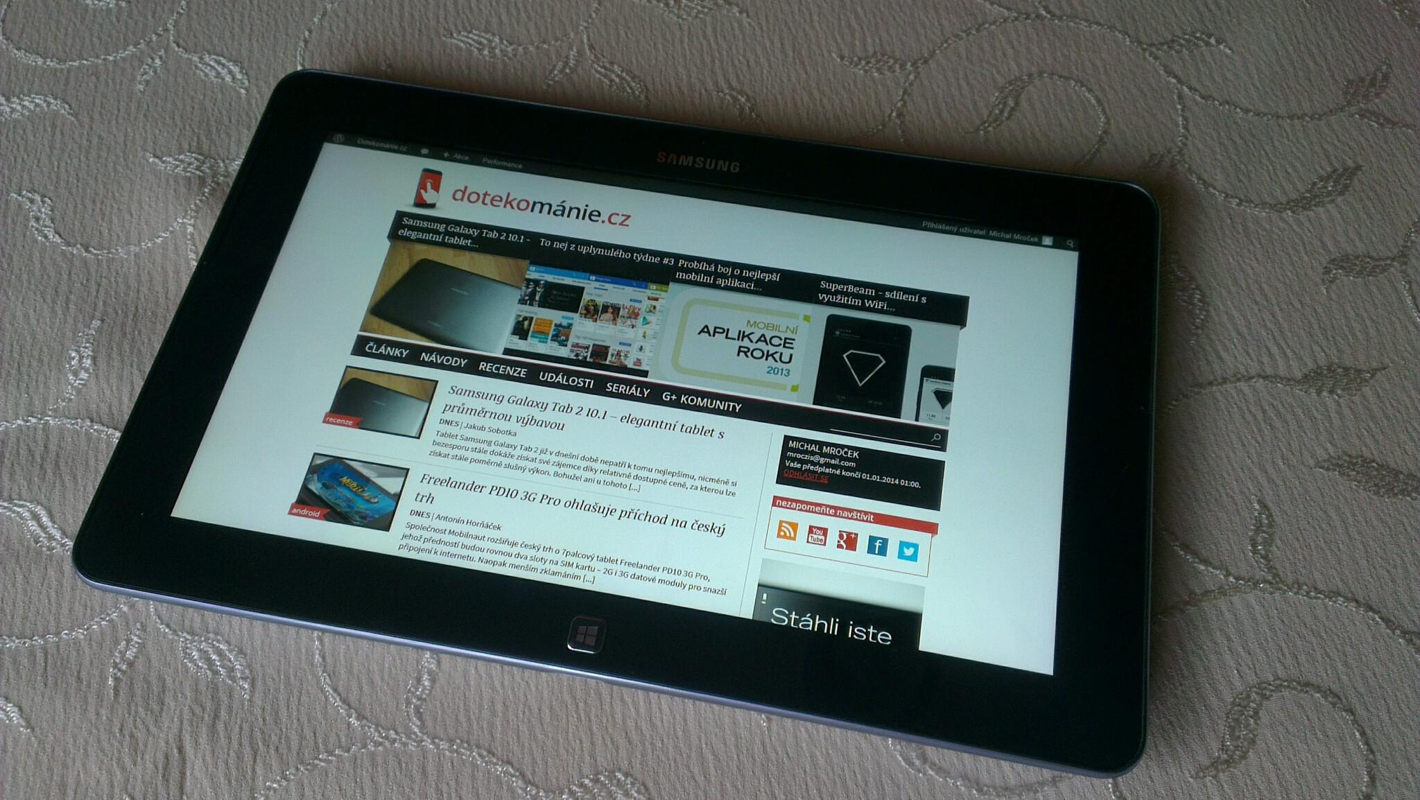 Samsung ATIV Tab: krasavec za všechny peníze [recenze]