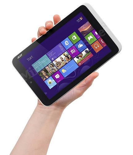 8palcový tablet s Windows 8 Pro od Aceru