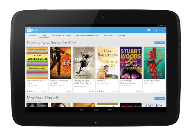 Play Books Home - Tablet