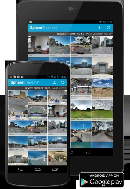 SphereShare je místo pro vaše PhotoSphere