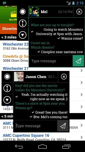 Ninja SMS – plovoucí SMS konverzace