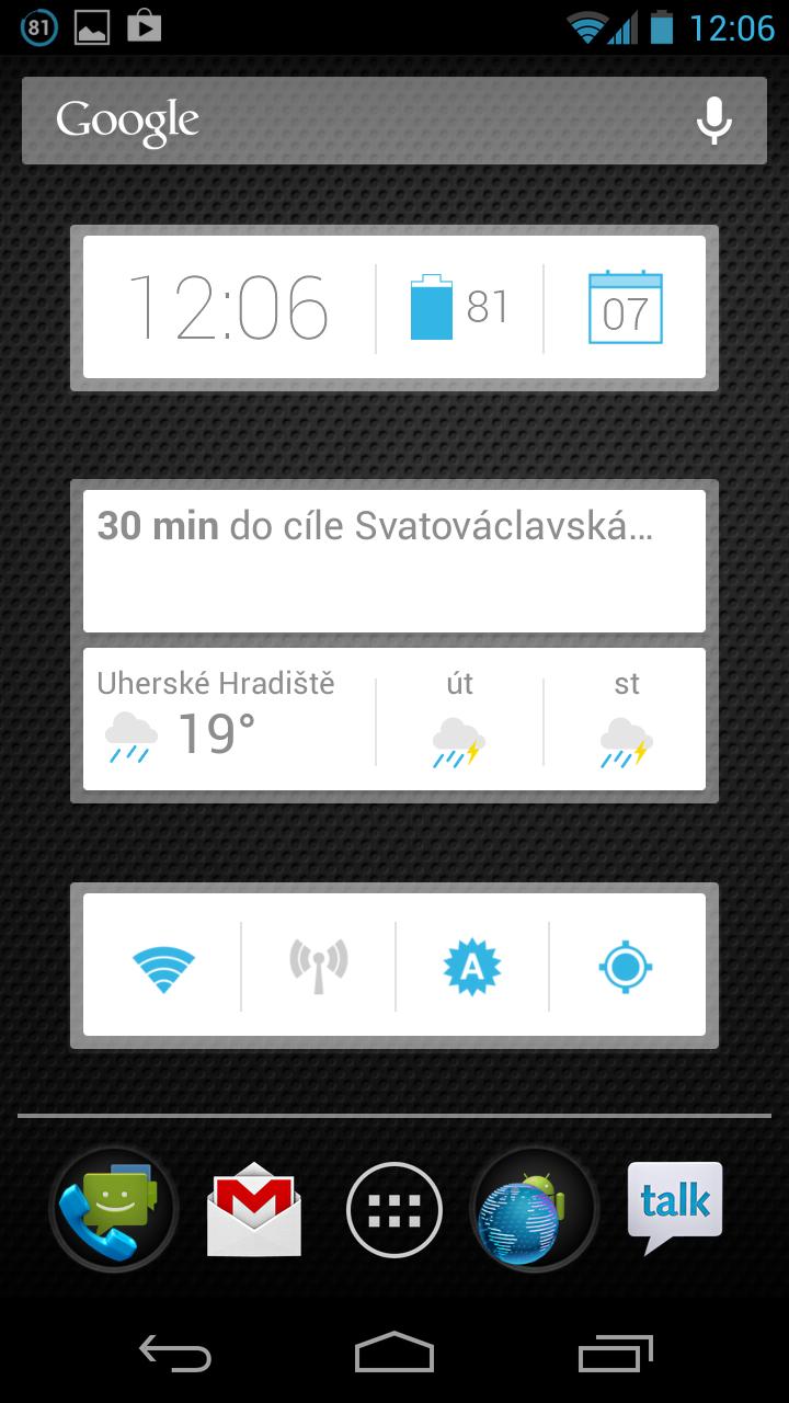 Clock Now – hodiny ve stylu Google Now a nejen to