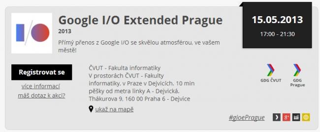 2013   Google I O Extended Prague   Akce   GUG.cz