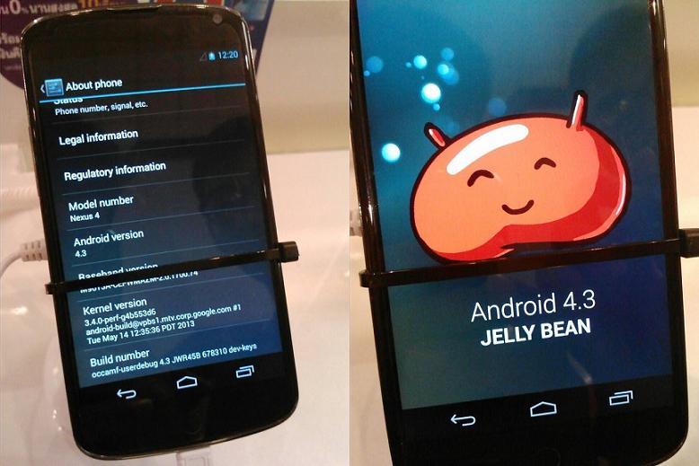 Android 4.3 spatřen na Nexusu 4 [aktualizováno, video]
