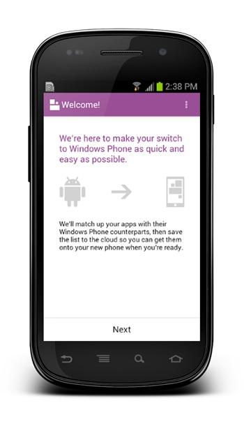 Microsoft vydal aplikaci pro Android pro přechod na Windows Phone