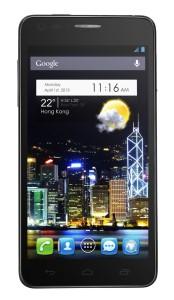 Alcatel One Touch Idol Ultra 6033X - černé provedení - přední část