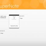 Asus VivoTab ME400C - SuperNote menu