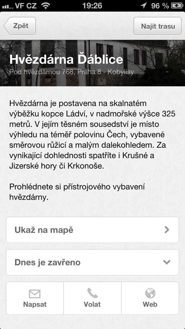 Připojení mapy aplikace