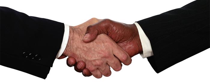 holding hands bussines