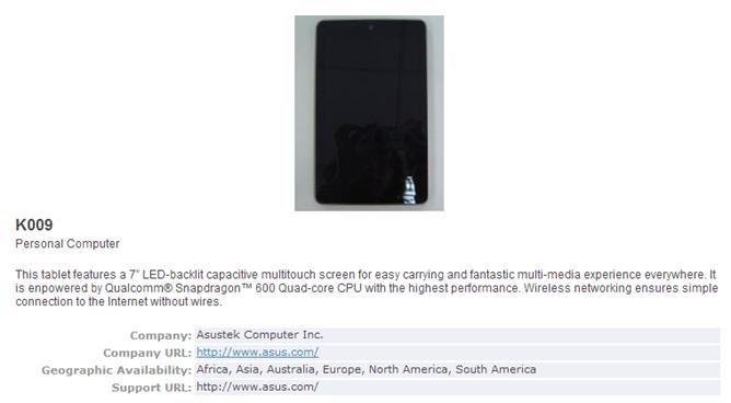 Nexus 7 druhé generace připraven