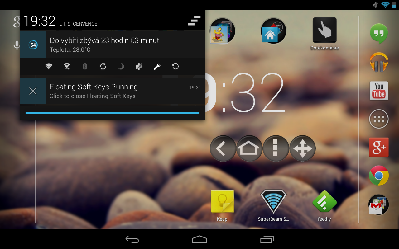 Plovoucí ovládací tlačítka pro Android