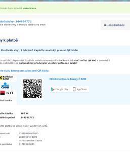 Alza.cz - QR platby