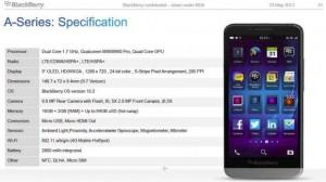 BlackBerry A10 - technické specifikace
