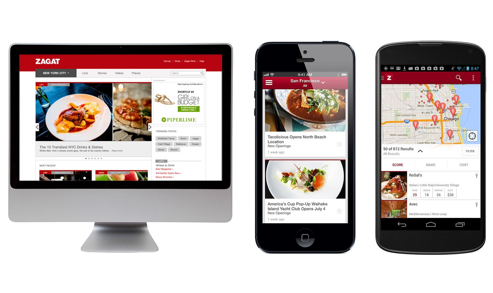Google spustil nový Zagat – průvodce restauracemi