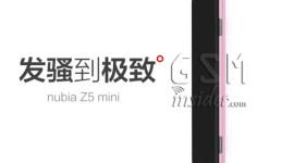 ZTE Nubia Z5 mini na uniklém tiskovém renderu