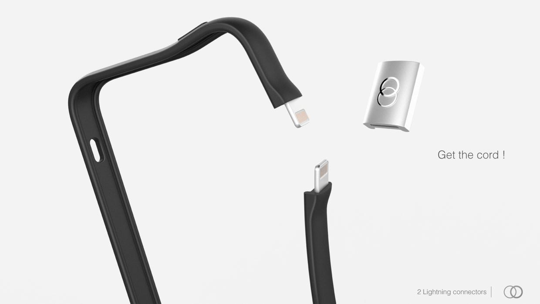 Koncept nabíjecího obalu pro iPhone: Juice up