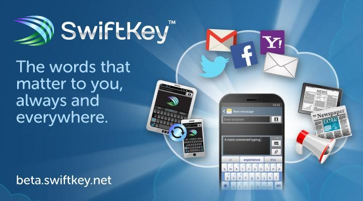 Klávesnice SwiftKey přichází se zálohou a synchronizací do cloudu