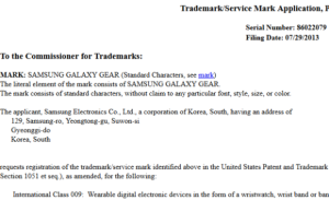 Samsung Galaxy Gear - registrace