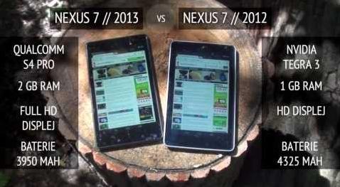 Nexus 7 (2013) vs. Nexus 7 (2012) – video srovnání