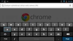 Chrome funguje stejně jako na klasickém Androidovém smartphonu, ale s vysokým výkonem a spoustou operační paměti se používá mnohem příjemněji