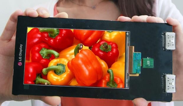 LG představilo Quad HD displej s 538 ppi pro nadcházející top model