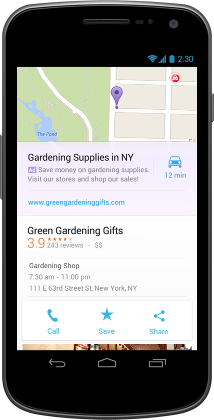Google spouští nové reklamy v aplikaci Mapy