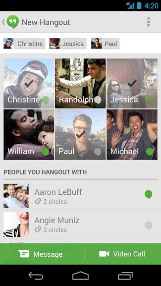 Hangouts pro Android – konečně s indikací, kdo je online [apk]