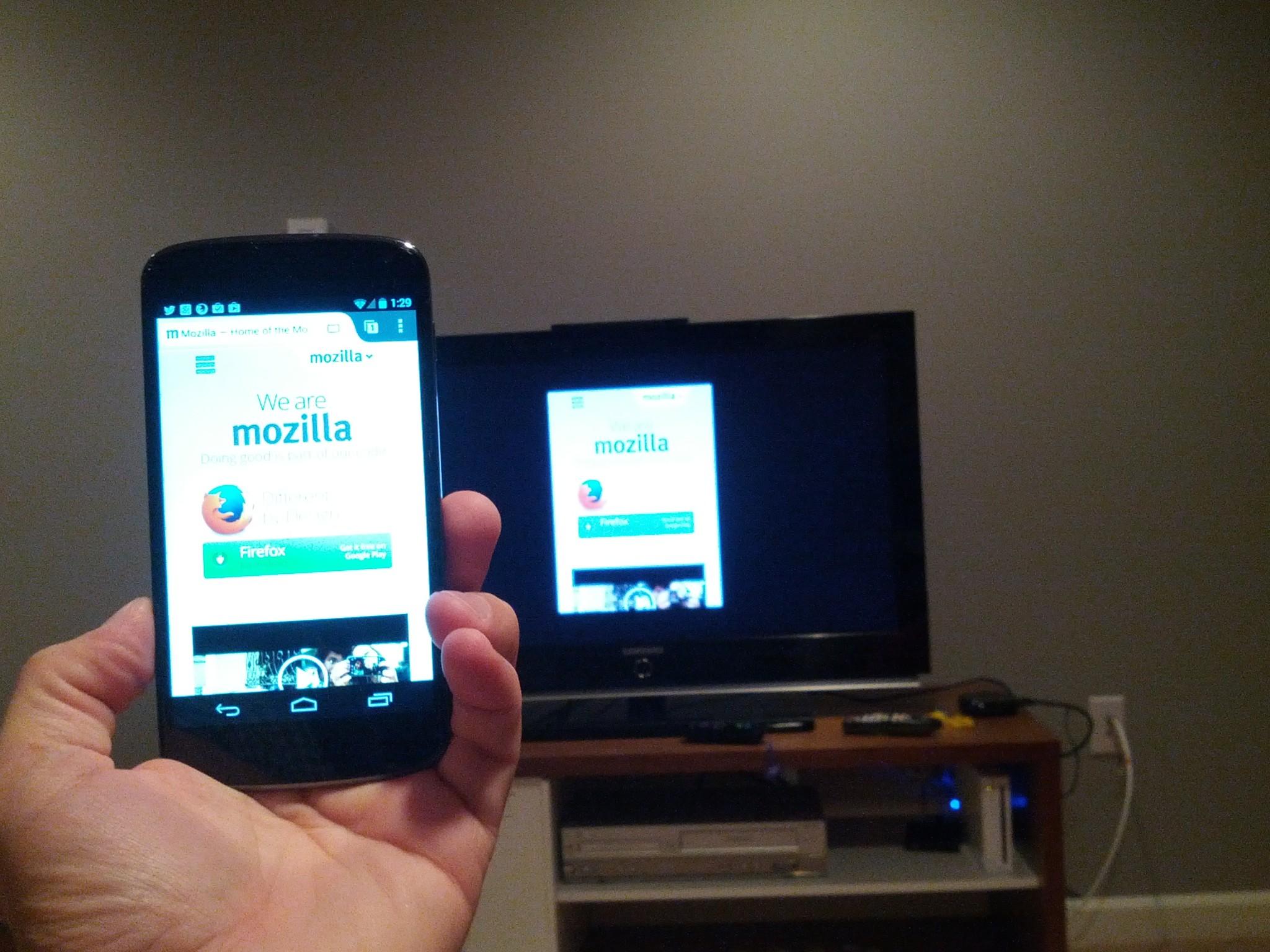 Firefox pro Android nabídne zrcadlení na TV jako ChromeCast