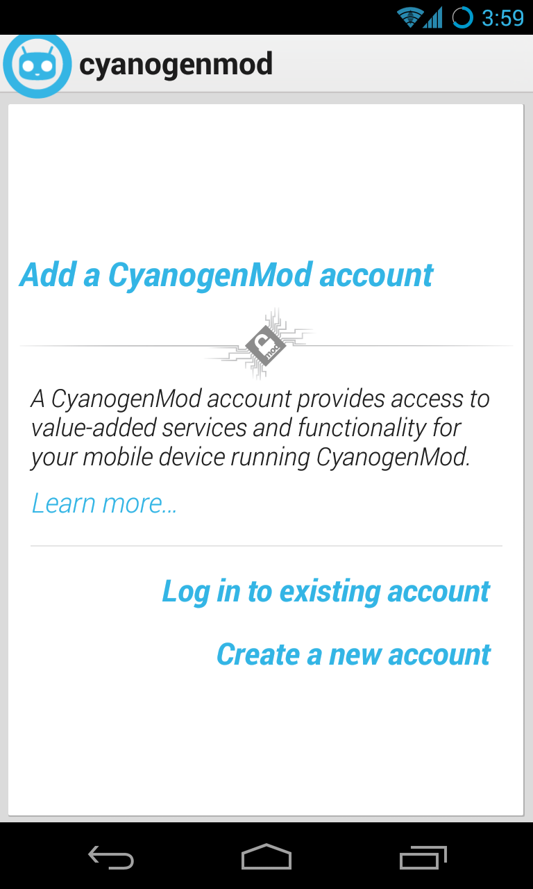 CyanogenMod účet: novinka v poslední verzi oblíbené alternativní ROM