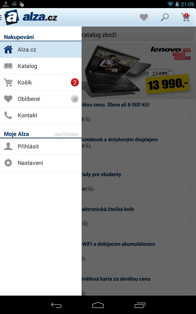 Aplikace Alza.cz pro Android a iOS přináší nakupování na cestách a mnohem více